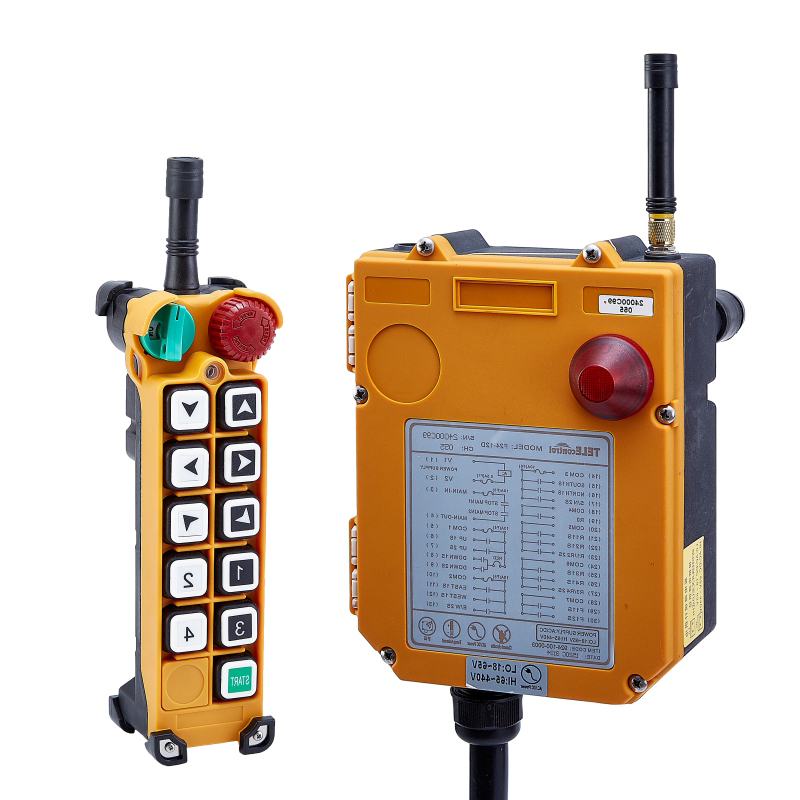 Switch F24-10S for hoist crane 1 transmitter and 1 receiver industrial wireless redio remote control Switches