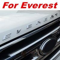 Stainless Steel SLIM CAR ACCESSORIES Wording 3D Letter Sticker Trim For Ford Everest gloss with fixed sticker plating