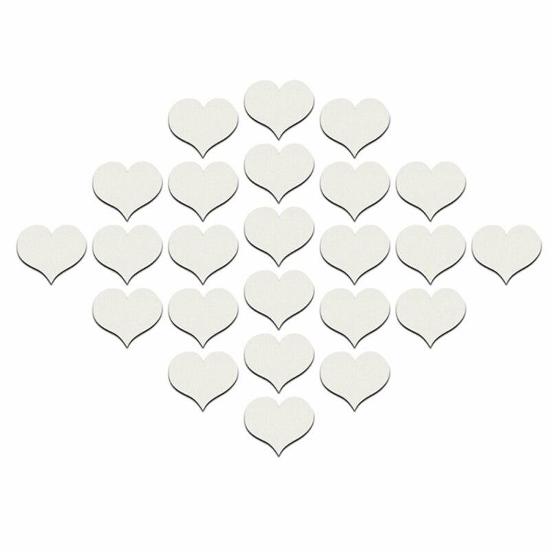 La Forma del corazón 3d Pegatinas de Pared de Acrílico Pegatinas de Pared Para L