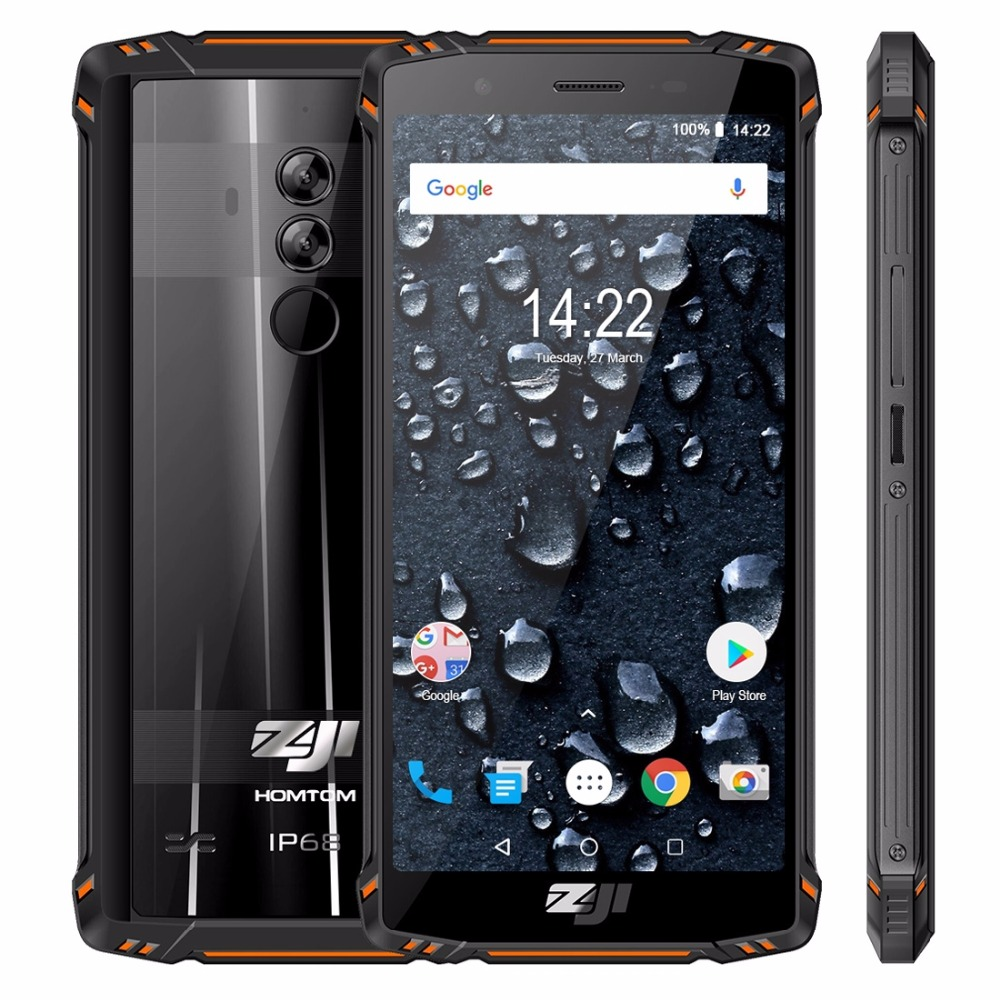 HOMTOM ZOJI Z9 6GB 64GB IP68 5500mAh Waterproof Mobile Phone Heart Rate Android 8.1 5.7inch Face ID Fingerprint 4G Smartphone