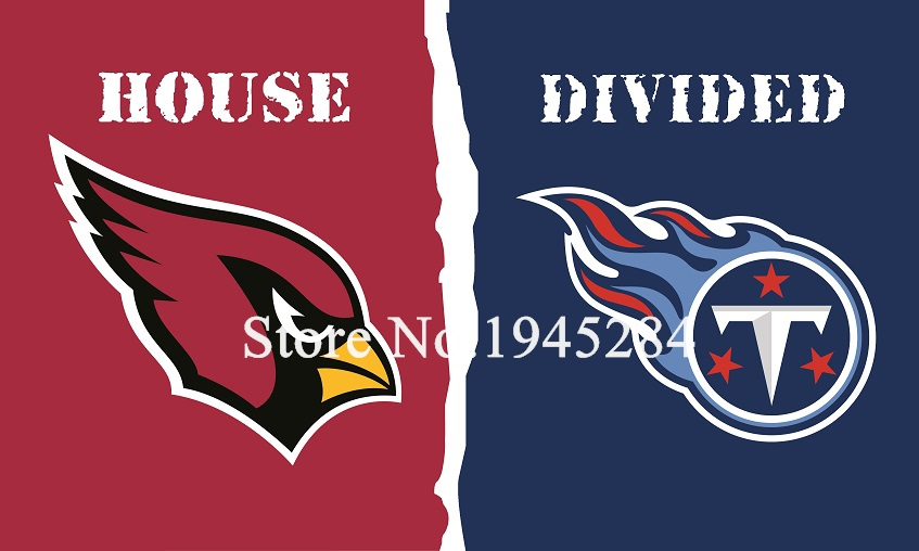 NFL Arizona Cardinals Tennessee Titans House Divided Flag 002 3x5ft 150x90cm Polyester Flag Banner, free shipping