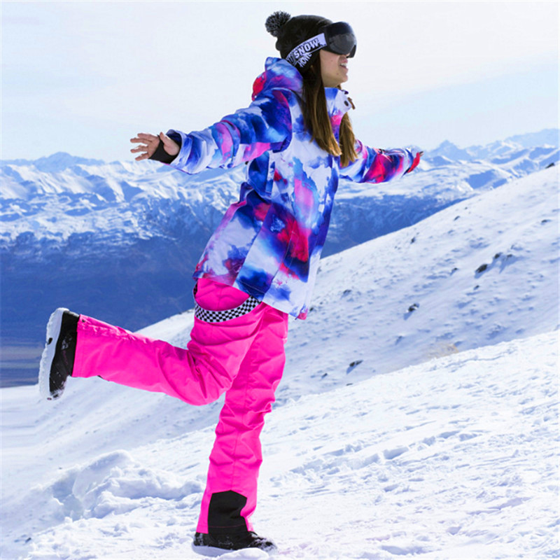 a29df02211 Winter Ski Jacket Women Windproof Waterproof Snowboarding Sets Climbing  Snow Skiing Female Design Large Size Camping Hiking Suit-in Snowboarding  Sets from ...
