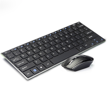 Aluminum Alloy Ultra Slim Wireless 2.4G Keyboard Optical Mouse Combo With USB Receiver For Windows 7/8/10 Laptop Desktop