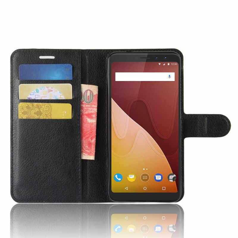 Wiko الرؤية Prime حالة Wiko الرؤية رئيس غطاء 5.7 بوصة محفظة جلدية الهاتف الحقيبة ل Wiko الرؤية Prime حالة الوجه عودة الجلد غطاء أكياس