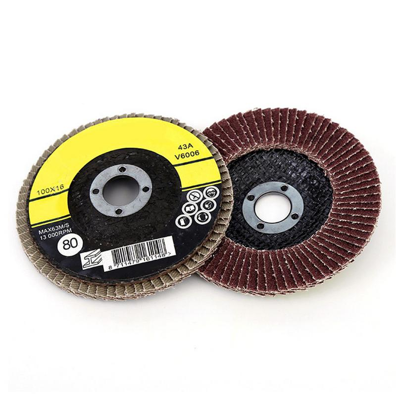 1 Pcs Polishing Grinding Wheel Quick Change 100mm Sanding Flap Disc Grinding Wheel For Grit Angle Grinder Abrasive Tool