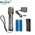 ZK10 Cree XM-L T6 Autodefesa Tactical LED flashlight Torch 4000LM lâmpadas potentes 18650 5000 mAh bateria Recarregável Carregador AC