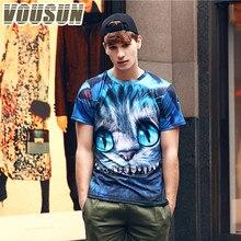 Brand Clothing Summer Print 3D T Shirt Alice in Wonderland Cheshire Cat Men T-shirts 100% Cotton T-shirt Shirts Blouse Camiseta