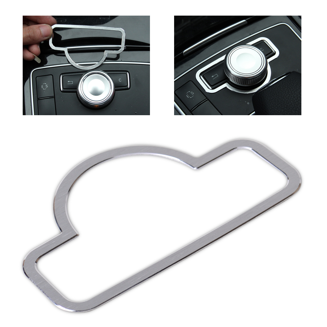 beler Interior Console Panel Cover Center Console Multimedia Switch Button Trim for BENZ C E GLK CLS Class W204 W212 W218 X204