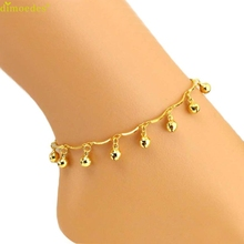 Diomedes Newest Golden Color Bells Trendy Anklet Women Ankle Bracelet Barefoot Sandal Beach Foot Jewelry High Quality