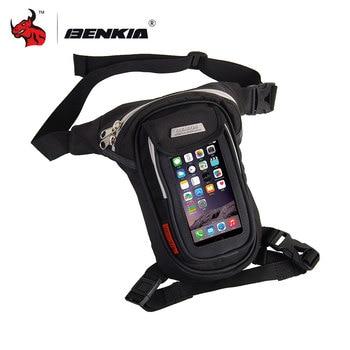 Bolsa de Motocicleta BENKIA, bolsas de pierna de muslo para Motocicleta, bolsa de bolsillo para la cintura, bolsa de paquete para exteriores, Bolsas laterales para Motocicleta