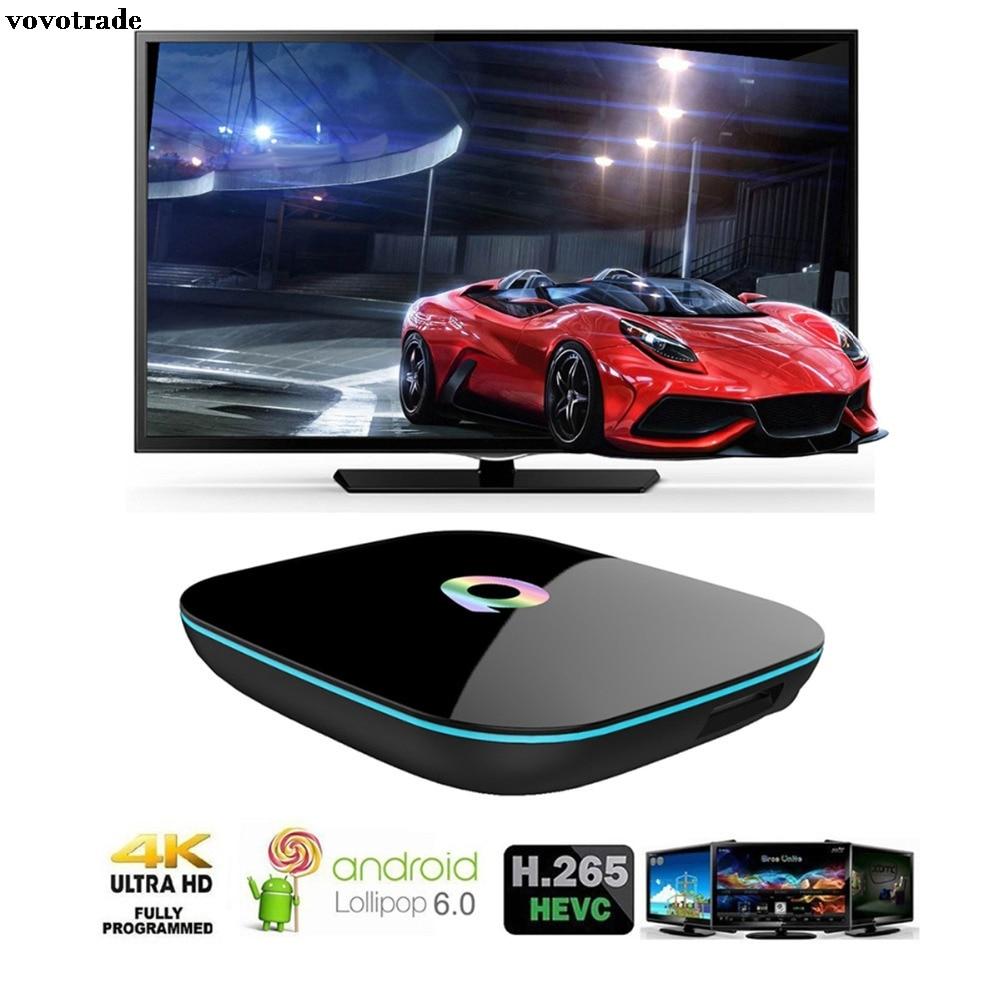 vovotrade Android 6.0[2GB/16GB/4K]Smart TV BOX Amlogic S905+Free I86 Keyboard Smart Television Tv Tuner Rom Android Iptv 1080p ugoos am2 android 5 1 1 amlogic s905 4k tv dongle rii i8 white
