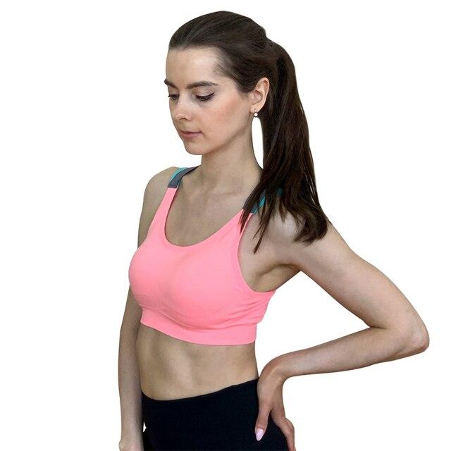 Push Up Sports Bra XL For Women Cross Straps Wireless Padded Comfy Gym Yoga Underwear 2