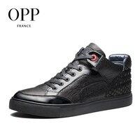 OPP Новый Для мужчин Сапоги и ботинки для девочек 2017 Мужская обувь из натуральной кожи зимние сапоги рыбьей чешуи Мужская обувь Ботильоны для
