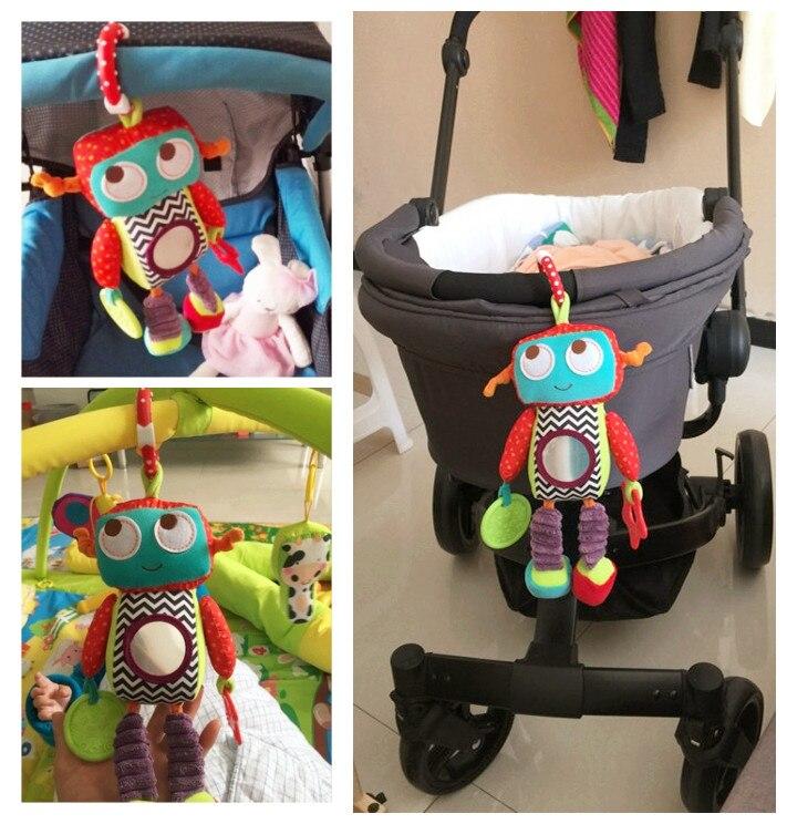 Кэндис го! самое новое прибытие детские игрушки погремушка смазливая красочные робот кукла безопасным зеркалом прорезыватель кровать пове...