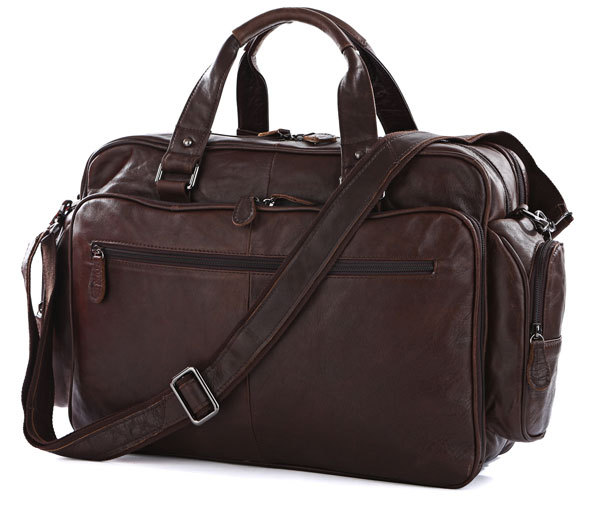 Nesitu Big Large Capacity Vintage Real Genuine Leather Men Travel Bags Messenger Bags 15 6 Laptop