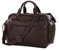 Nesitu Big Large Capacity Vintage Real Genuine Leather Men Travel Bags Messenger Bags 15.6'' Laptop Briefcase #M7150