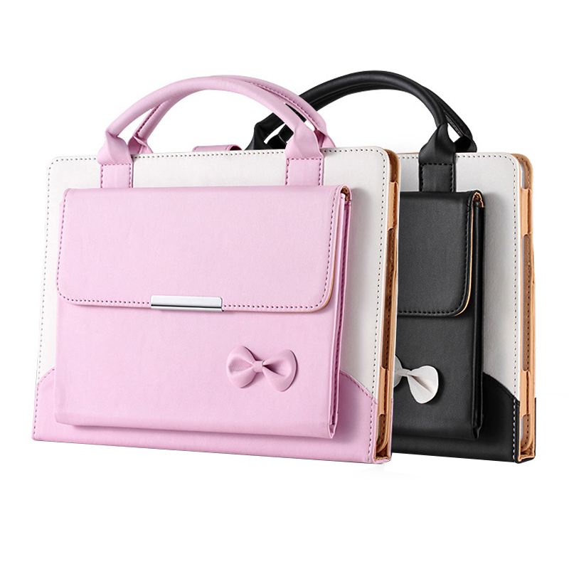 For iPad Air 1/Air 2 9.7 inch Womens Bag Fashion Business PU Leather Handbag Tablet Full Protect Case for iPad 2/3/4 9.7 inch