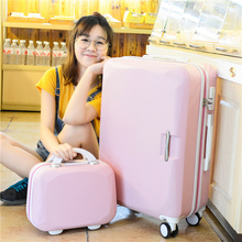 Kids's Ladies's Favourite Trolley Suitcase ABS+PC Rolling Baggage Set Beauty Case 2Pcs/Set/14″ Pretty Trolley Luggage