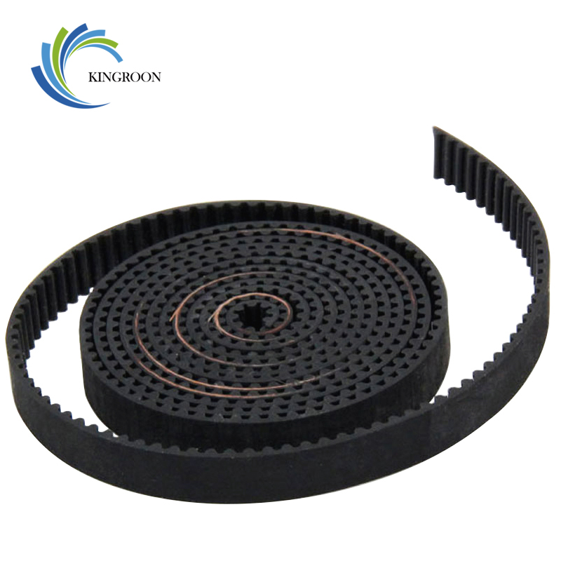 2Pcs 1meter GT2 Open Timing Belt Rubber Width 6mm 3D Printers Parts 2GT Synchronous PU Belts Pitch 2mm Black 3D Printer Parts F1
