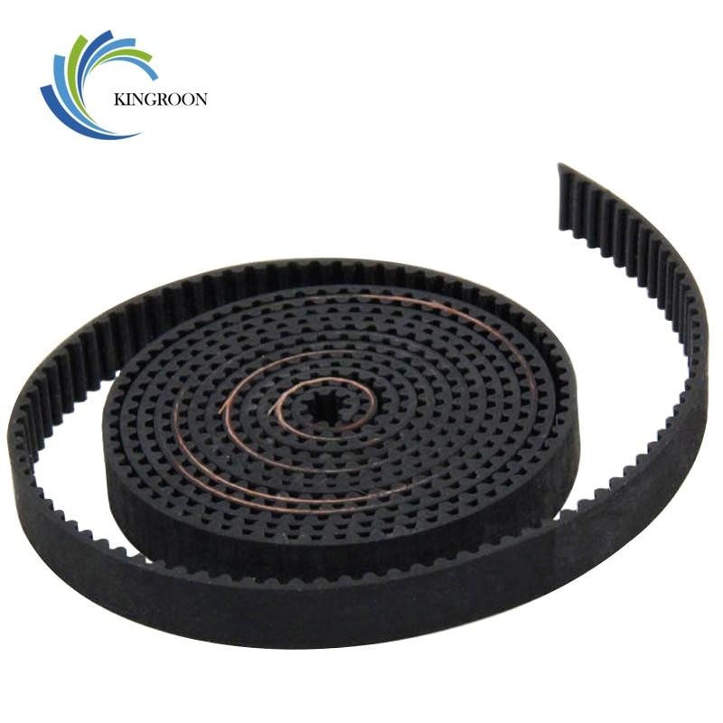 2Pcs 1meter GT2 Open Timing Belt Rubber Width 6mm 3D Printers Parts 2GT Synchronous PU Belts Pitch 2mm Black 3D Printer Parts F1