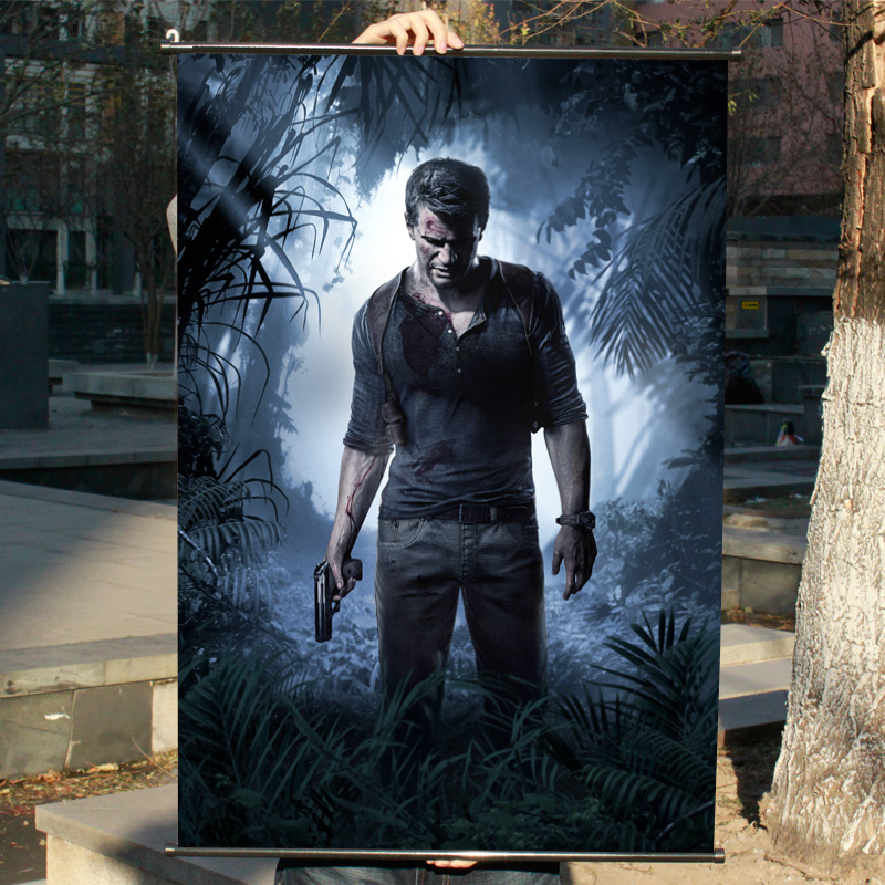 Uncharted 4 Hd Game Scrolls Movie Poster Wall Sticker Banners