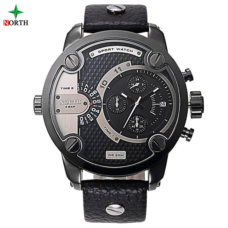 Prix pour Homme Sport Montre-Bracelet De Luxe Marque Mode Hommes Horloge 30 M Résistant À L'eau En Acier Inoxydable 2017 Hommes Montre de Sport de Haute qualité