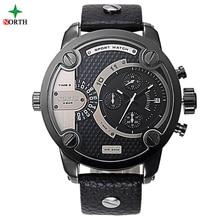 Homme Sport Montre-Bracelet De Luxe Marque Mode Hommes Horloge 30 M Résistant À L'eau En Acier Inoxydable Hommes Montre de Sport de Haute Qualité