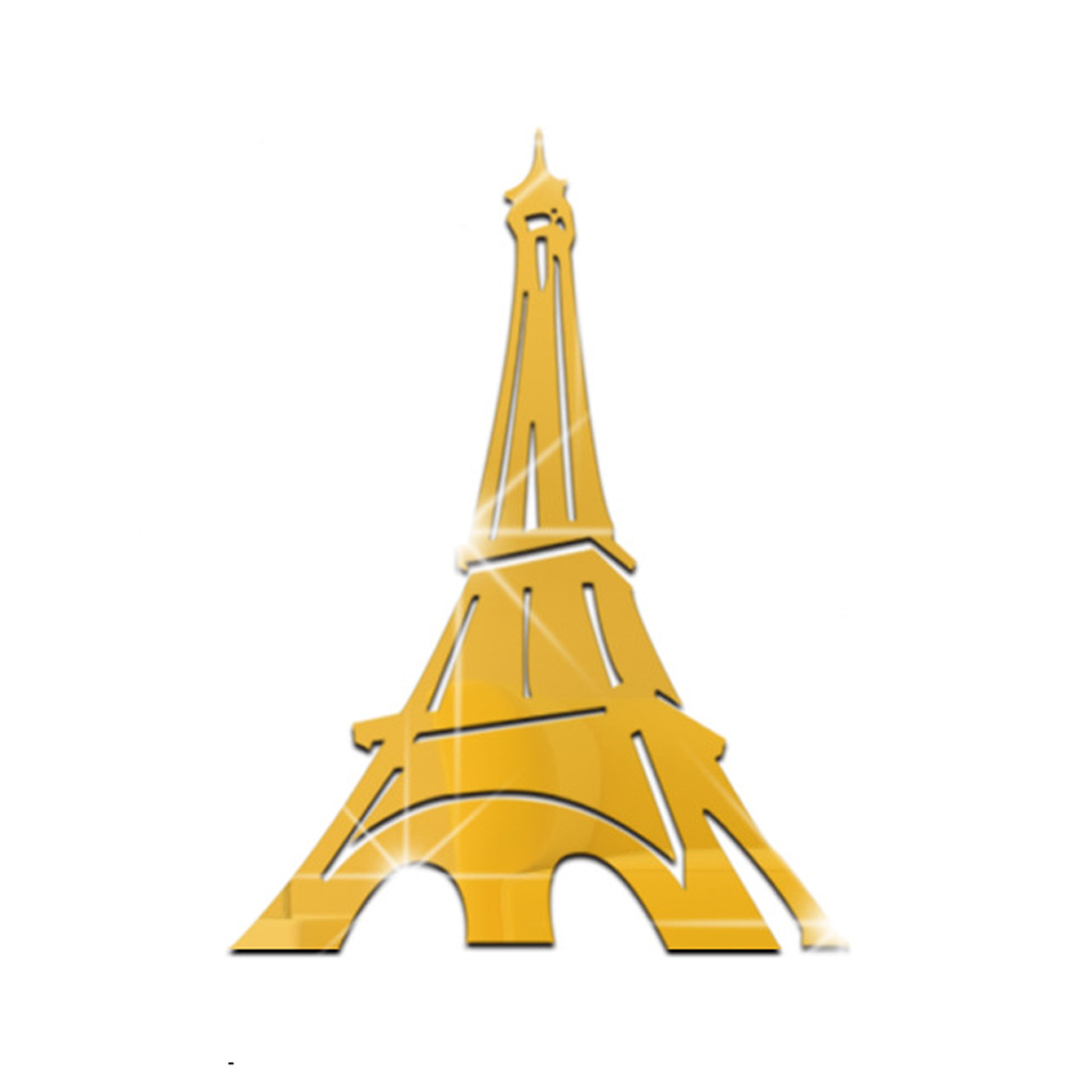 Removable Eiffel Tower Mirror Decals Art Wall Stickers DIY Home ...