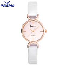 PREMA Quartz Lady Watches 2017 Luxury Brand Clock WOMAN Leather Gold Bracelet Montre Femme Waterproof Rose Gold Watch Women