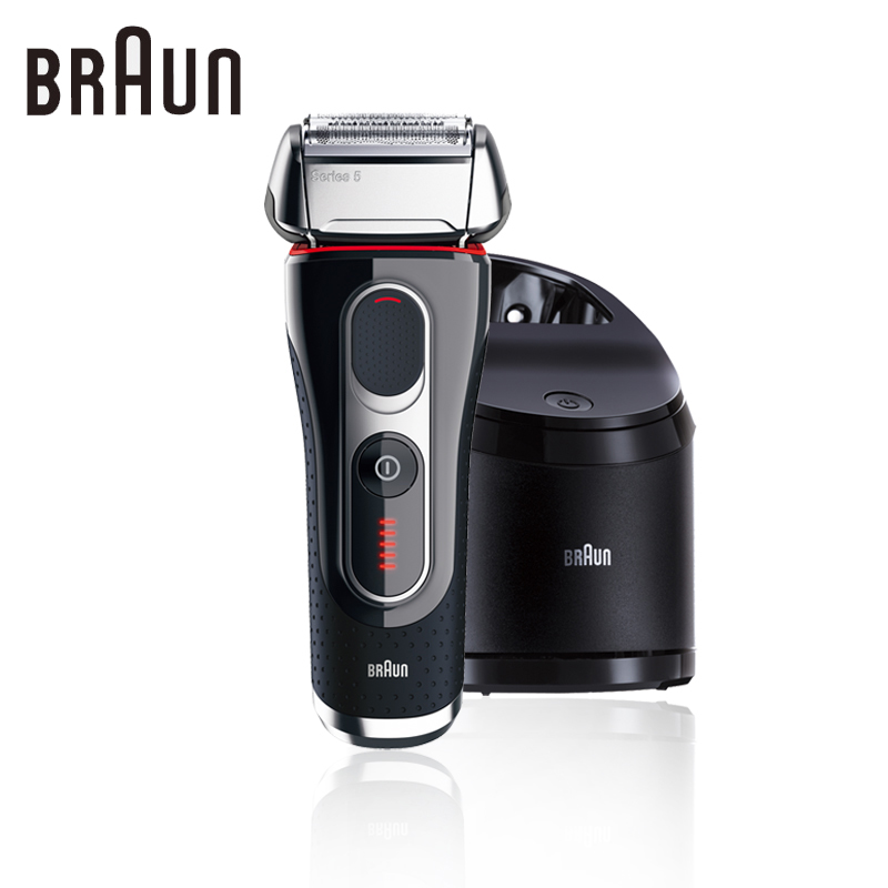 Braun Series 5 5090cc Electric Foil Shaver Rechargeable For Men Clean & Charge Station MenS Razor Cordless Shaving 100-240v