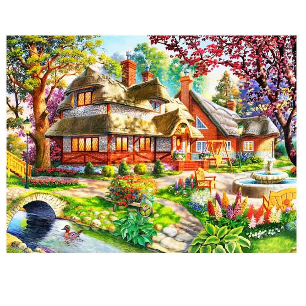 2017 hot sale on Rhinestone 5D Round Diamond embroidery DIY Diamond painting cross stitch Home Decoration