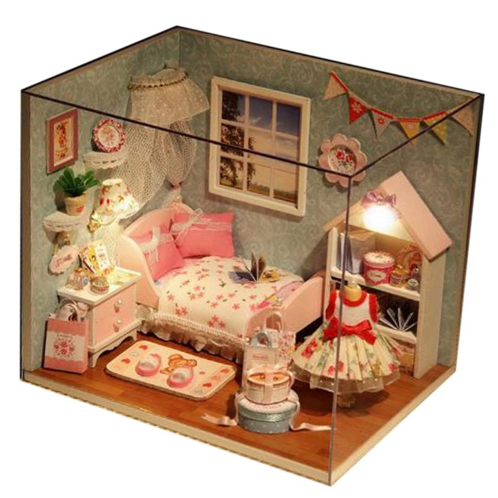 1:12th Hecho a Mano Miniatura Casa De Muñecas Accesorio barcos Rueda de baño Beach Hut