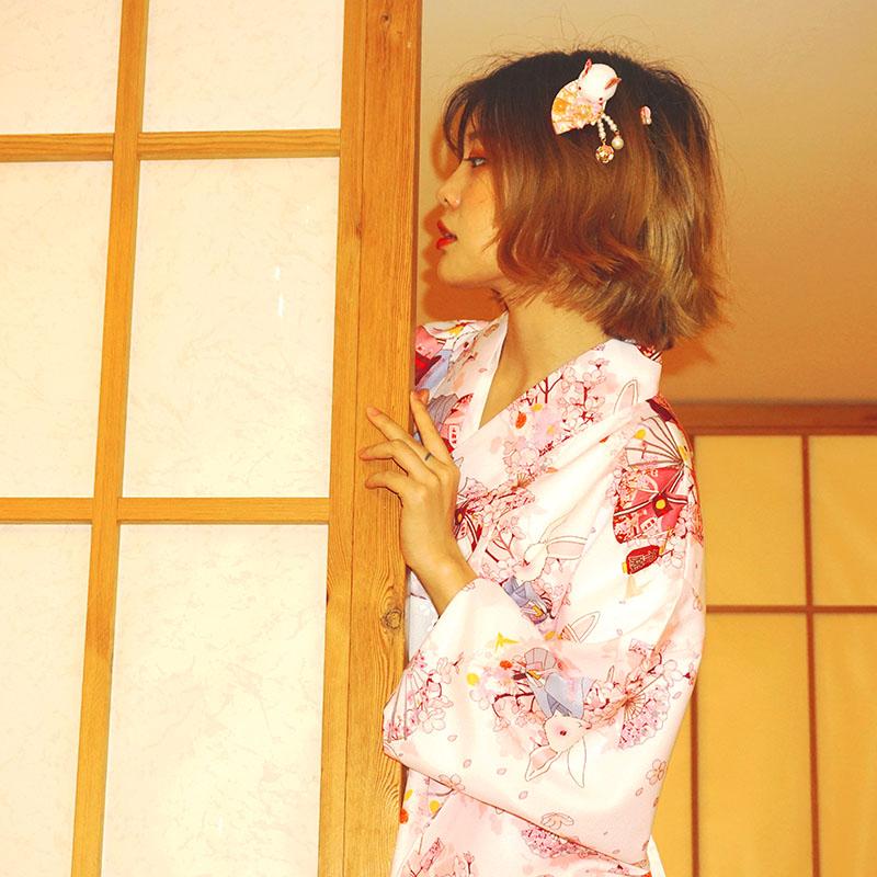 2019 National Trends Women Kimono Yukata With Obi Novelty Lolita Dress Japanese Cosplay Costume Floral Kimono Mujer