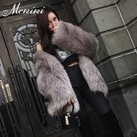 MCKIKI Haining 2017 nieuwe dame bontjas lange vossenbont Russische gratis verzending high-end fashion imitatie bont vrouwen