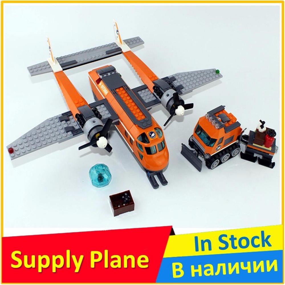 цена на Arctic Supply Plane 60064 Building Blocks Model Toys For Children BELA 10441 Compatible City Bricks Figure Set