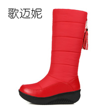 waterproof snow boots women winter boots botas mujer gothic shoes womens boots with fringe laarzen winter shoes woman boots
