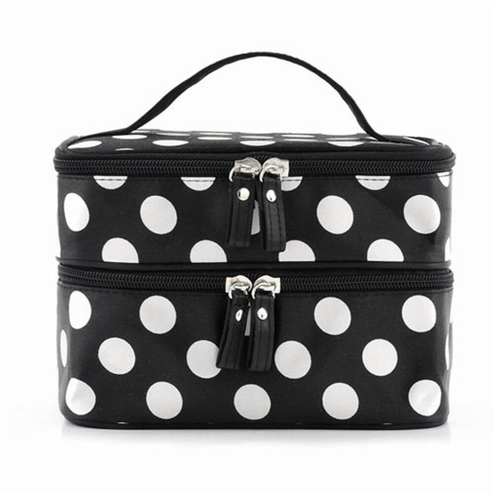 Black Large Capacity Cosmetic Bag Woman s