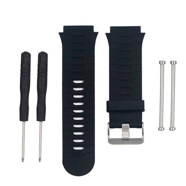 Adaptateurs de cosses de bracelet de montre en Silicone souple Durable pour Garmin Forerunner 920XT bracelet de montre de remplacement à longueur réglable
