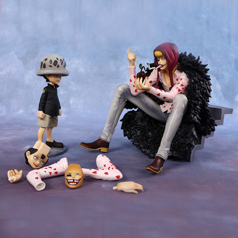 Japan Anime One Piece Corazon & Law P.O.P Limited Edition PVC Action Figures Collectible Model Toys Holiday gifts hot anime 24cm trafalgar law one piece action figures anime pvc brinquedos collection figures toys with retail box birthday gift