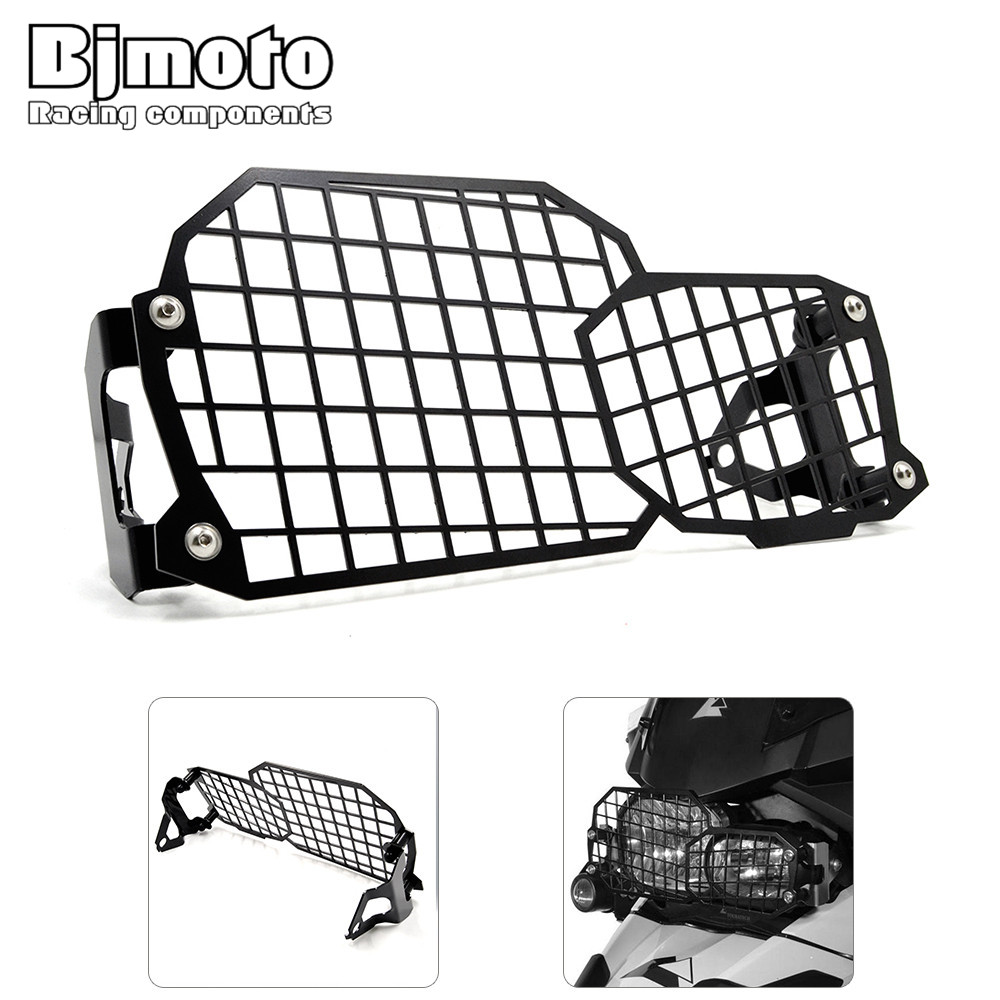 Bjmoto Stainless Steel Motorcycle Headlight Guard Protector headlamp cover For BMW F800GS ADV F700GS F650GS Twin 2008-2015 areyourshop sale rear abs sensor protective guard cover fit for bmw f800gs adv f700gs f650gs twin