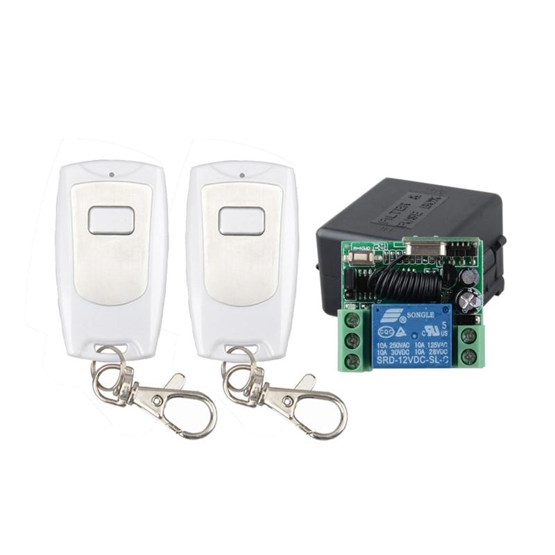 DC 12V 1CH RF Wireless Remote Control Switch System 315Mhz 433MHZ Transmitter Receiver Smart Switch Z-Wave dc 12v 1 ch switch 1ch rf wireless remote control switch system 315 433 mhz 2 transmitter and 1 receiver