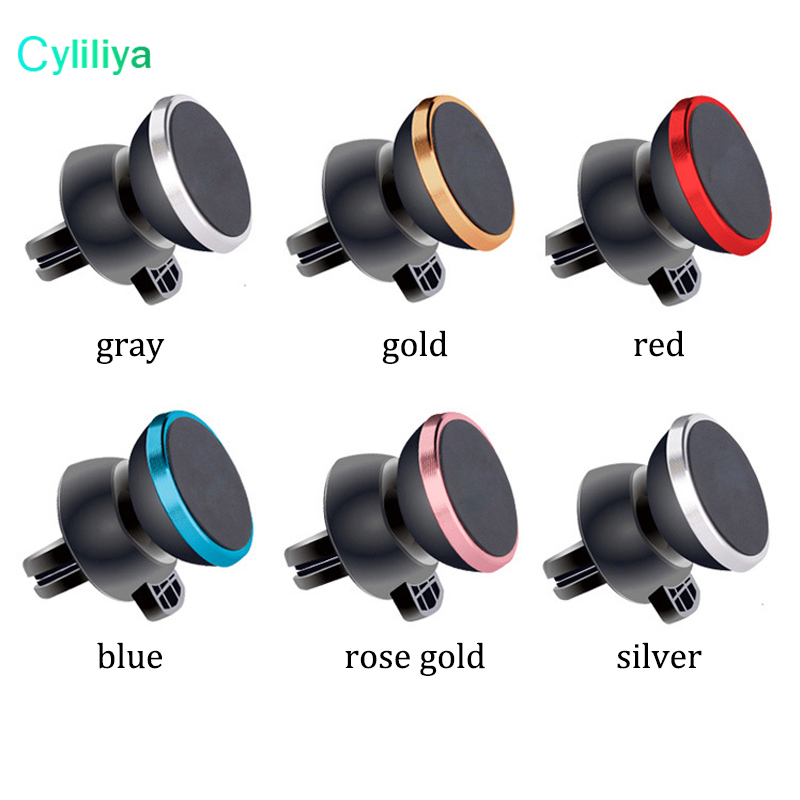 50pcs Newest Strong Magnetic Car Air Vent Mount 360 Degree Rotation Universal Phone Holder With Package