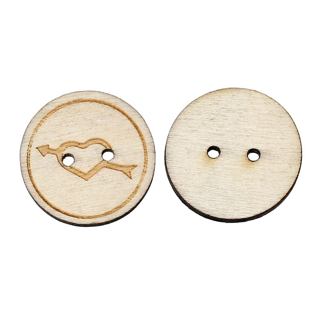୧ʕ ʔ୨Doreenbeads madera Costura botón scrapbooking redondo 2 ...