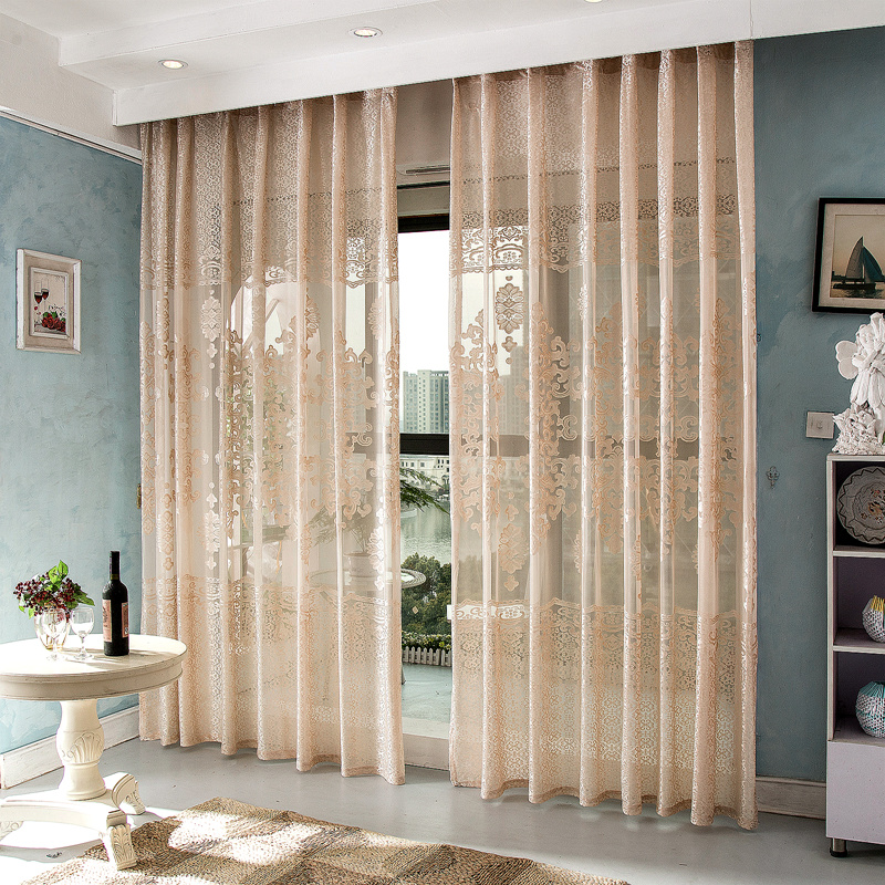 Cheap The Gauze Curtain Of Europe Type Transparent Gauze Curtain Living Room Window Purely