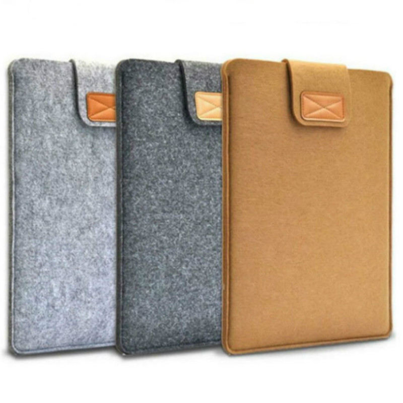 7.9 9.7 10.1 8.0inch Universal Wool Felt Tablets Case Bag For IPad 2 3 4 Mini 1 Air 2 For Samsung Mipad Cover Case Pocket Pouch