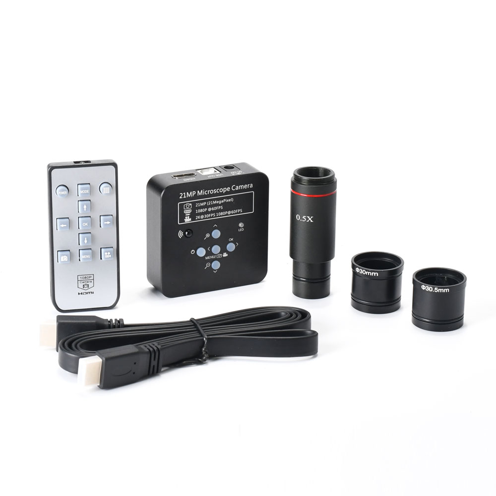 2K 21MP 1080P 60FPS HDMI USB Electronic Industrial Microscope Camera 0 5X Eyepiece Adapter 30mm 30