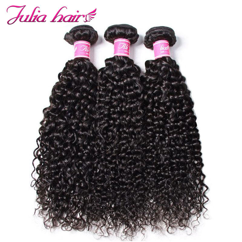 Hair Weave Ali Curly USA 3-Bundles Malaysian 8-To-26inch Domestic-Return Natural-Color