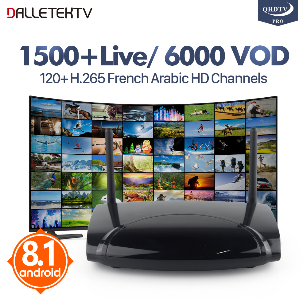 Arabic Iptv Subscription H.265 French Arabic Channels 12 Months QHDTV PRO Code Europe Netherlands Smart Android 8.1 IPTV Top Box h 265 qhdtv pro 1 year iptv subscription 1500 channels xnano tv box smart android 6 0 s905x europe french arabic iptv top box