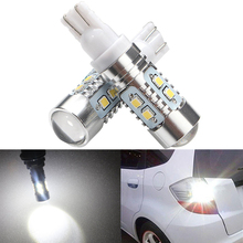 2pcs T10 W5W 921 2323 SMD 10 LED bulbs light High Power Car Side Wedge Tail Lamp Interior Lights 194 168 With lens White 12V 24V цена