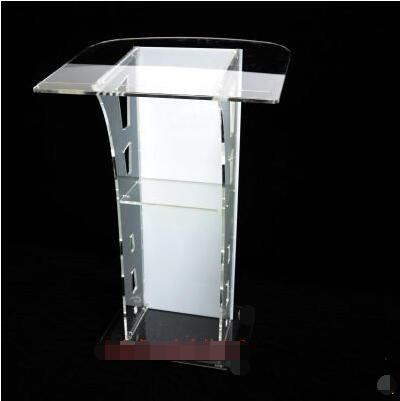 Podium Crystal Podium Acrylic Reception Desk Consultation Desk Welcome Desk Conference Speaker Christian Podium Table